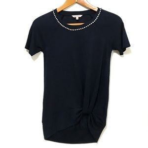Juicy Couture Dark Blue Jeweled Blouse